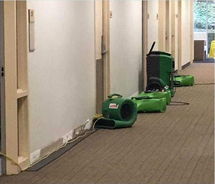 Water Treatment Room Leak in North East Commercial Building Before