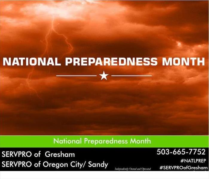 Orange storm sky with the words National Preparedness Month over