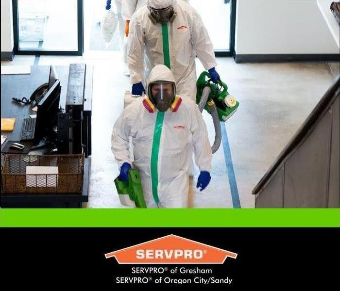 SERVPRO technician in PPE